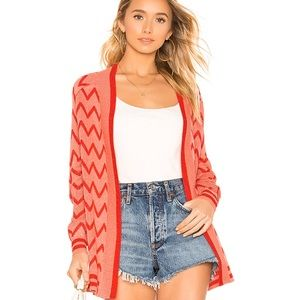 House of Harlow x Revolve Open Front Knit Cardigan